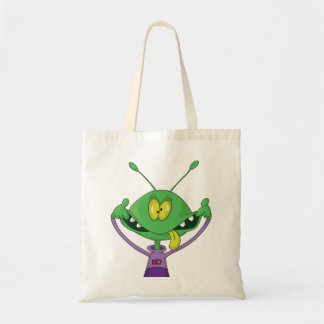 Silly Alien Halloween Tote Bag