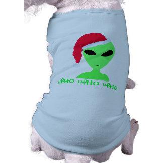 Silly Alien Santa ufHO ufHO ufHO Funny Dog Shirt