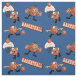 Silly Basketball Characters Fabric