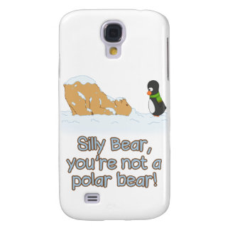'Silly Bear & Guin: Polar Bear' Galaxy S4 Case