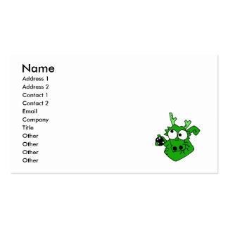 Silly Bowling Dragon Business Card Template
