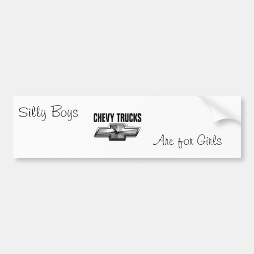 Silly boys bumper stickers