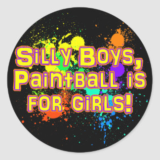 Silly Boys Classic Round Sticker