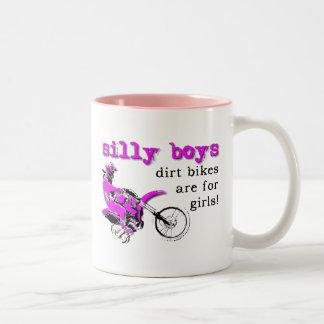 Silly Boys Dirt Bike Motocross Funny Mug Humor