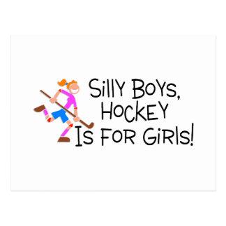 Silly Boys Hockey Is For Girls Postcard