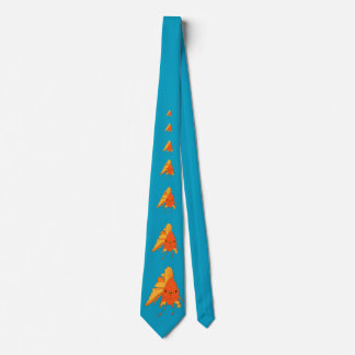 Silly Bright Illustrated Goldfish Tie
