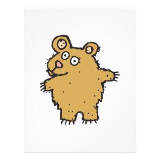 silly cartoon bear full color flyer