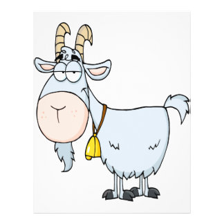 silly cartoon billy goat 21.5 cm x 28 cm flyer