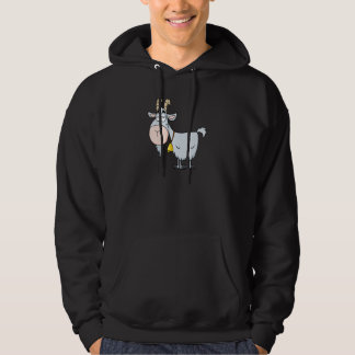 silly cartoon billy goat hoodie