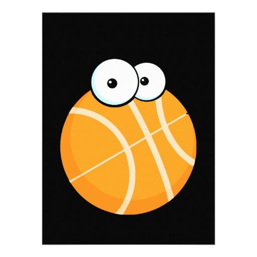 silly cartoon character basketball sports cartoon custom invitation