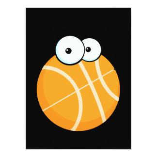 "silly cartoon character basketball sports cartoon 6.5"" x 8.75"" invitation card"