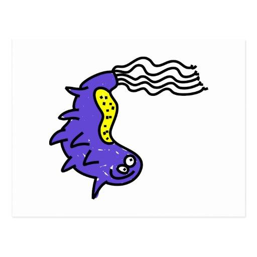 Silly Cartoon Germ Post Card