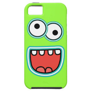 Silly Cartoon Monster Face Grin iPhone 5 Case