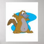 silly cartoon platypus poster