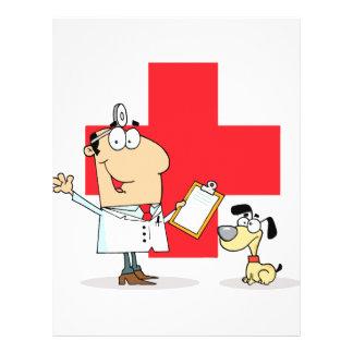 Silly Cartoon Vet Veterinarian 21.5 Cm X 28 Cm Flyer