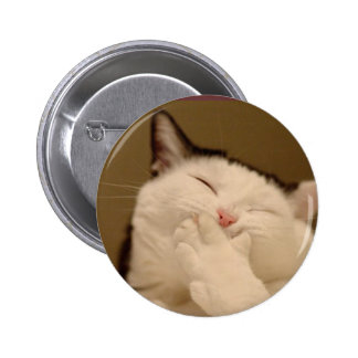 Silly Cat Buton 6 Cm Round Badge