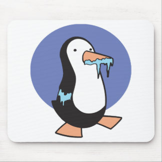 silly chilly penguin mouse pad