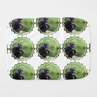 Silly Chimpanzee Baby Burp Cloths