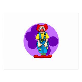 Silly Clown Postcard