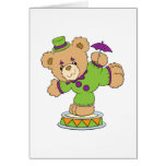 Silly Clown Teddy Bear Greeting Cards
