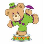 Silly Clown Teddy Bear Photo Cutouts