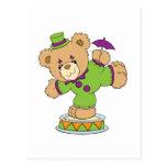 Silly Clown Teddy Bear Postcards