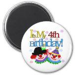 Silly Clowns 4th Birthday Fridge Magnets