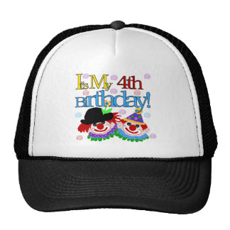 Silly Clowns 4th Birthday Tshirts and Gifts Cap