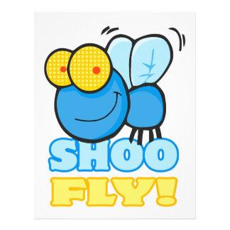 silly cute cartoon character SHOO FLY Custom Flyer
