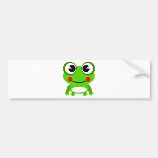 silly cute frog bumper sticker