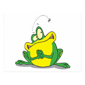 silly cute froggy patience for the fly postcard