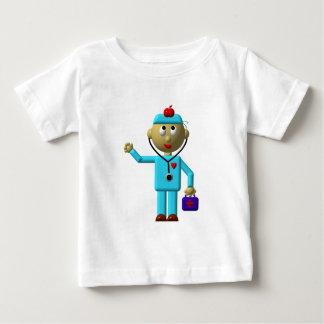 Silly Doctor with Apple on his head & Medical Bag Baby T-Shirt