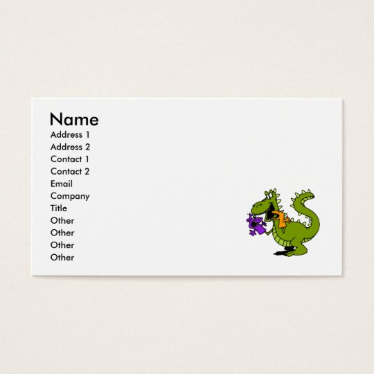 Silly Dragon with Sock Puppets Business Card