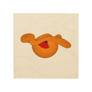 Silly Duck Face Cartoon Wood Canvas