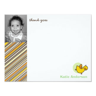 Silly Duckies Green Kids Birthday Thank You Card 11 Cm X 14 Cm Invitation Card