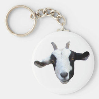 Silly-Face Goat Keychain