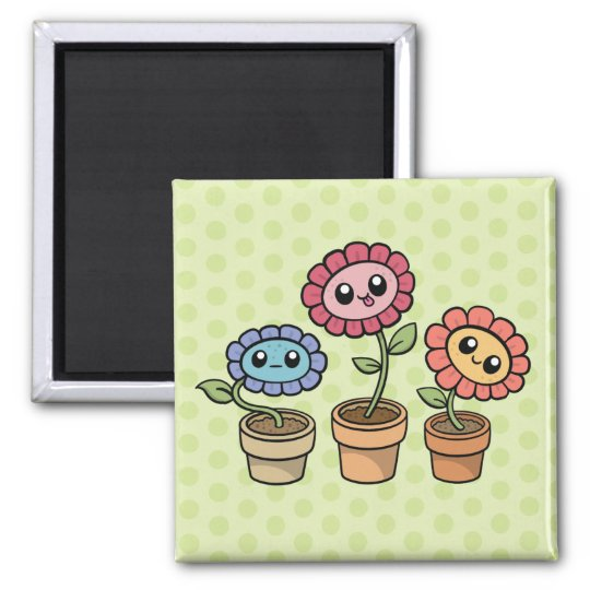 Silly Flowers magnet