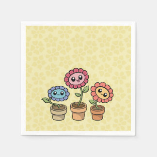 Silly Flowers paper napkins