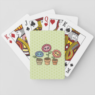 Silly Flowers playing cards