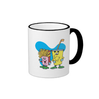 silly french fries and soft drink guys ringer mug