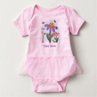 Silly Garden 1st Birthday Baby Bodysuit