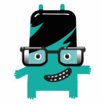 silly geek monster friend big glasses photo cut outs