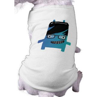 silly geek monster friend doggie t shirt
