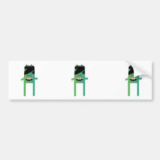 silly geeky monster dude bumper sticker