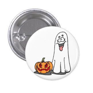 Silly Ghost 3 Cm Round Badge