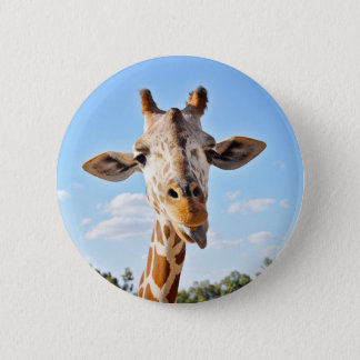 Silly Giraffe 6 Cm Round Badge