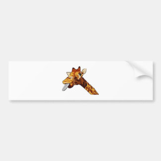Silly Giraffe Bumper Sticker