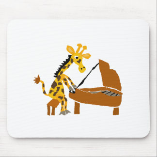 Silly Giraffe Playing the Piano Mouse Mat