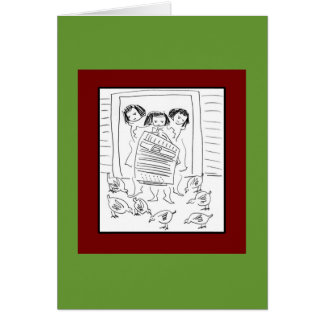 Silly Girls Greeting Card