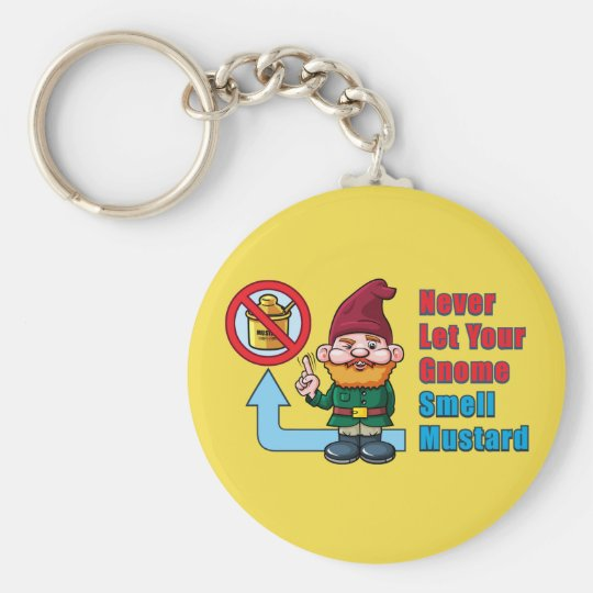 Silly Gnome and Mustard Key Ring